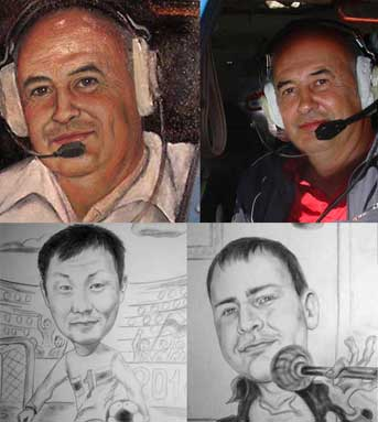 Oil portraits, Pencil portraits